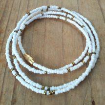 White Gold Waist Beads