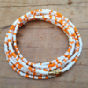 White Orange Waist Beads