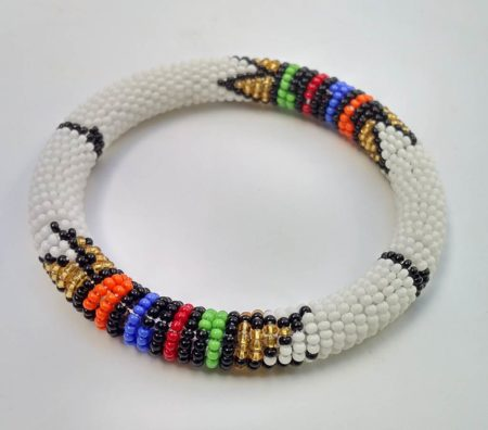 White Zulu Bracelet