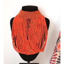 Dark Red Choker Necklace