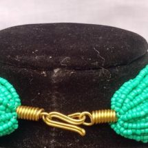 Turquoise chunky necklace closure