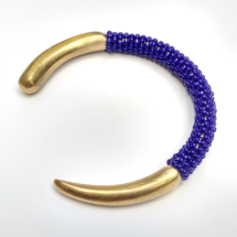 Blue Brass Bangle
